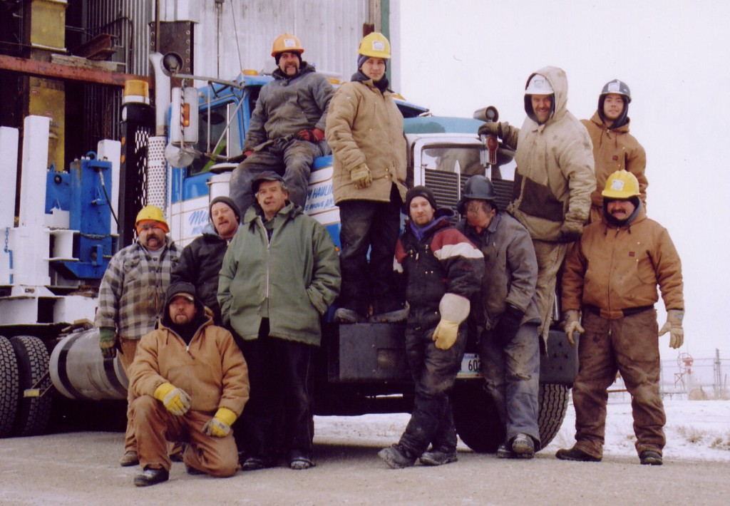 Crew on the La Riviere project
